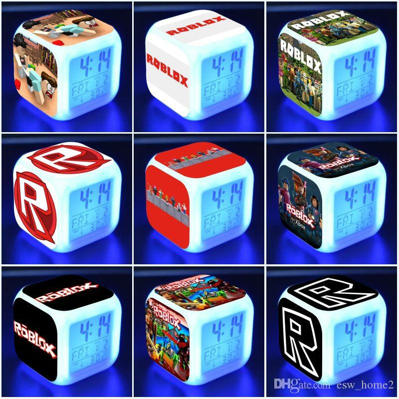 Roblox Alarm Clock Kids Toys Led Digital Alarm Clock Electronic Wake Up  Light Table Alarm Clock