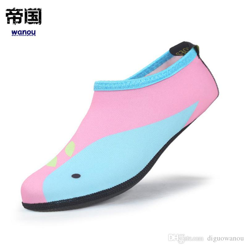 74f3e5cf877c 2019 Fashion NEW Kids Aqua Socks Children Swimming Shoes Breathable Summer  Beach Socks Water Shoes For Boys Girls Soft Diving Wading Shoes From  Diguowanou