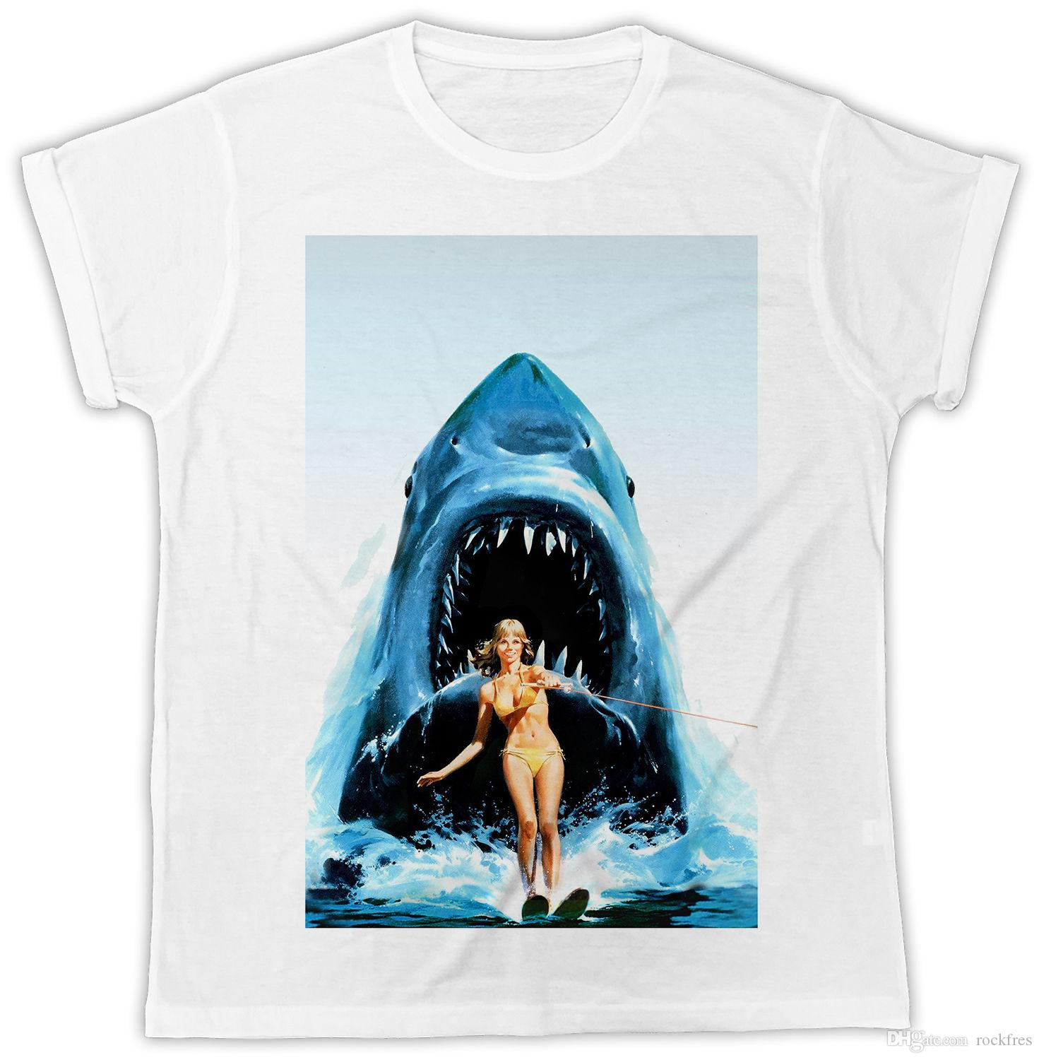 2849a9f3c1 SHARK SURF GIRL JAWS IDEAL GIFT BIRTHDAY PRESENT MENS UNISEX FUNNY COOL  TSHIRT T Shirts Shopping Really Funny T Shirts From Rockfres, $10.19|  DHgate.Com