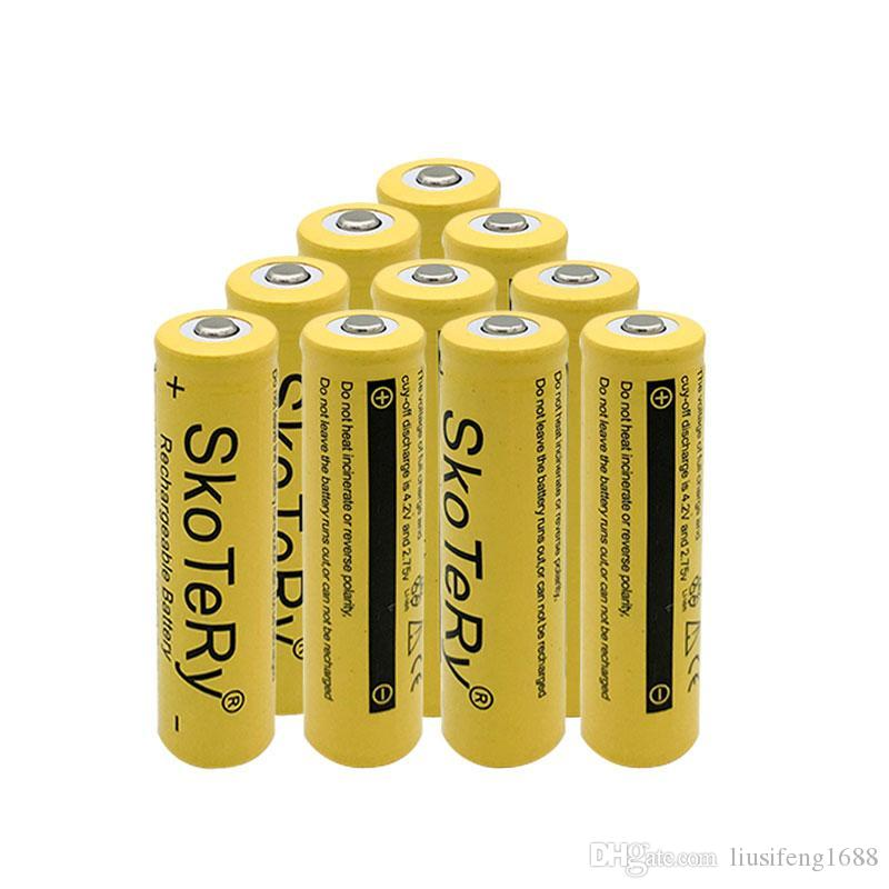 100% New Original 18650 battery 3 7 v 9800mah Lithium Rechargeable Battery  For SKOANBE Flashlight batteries vtc5 battery