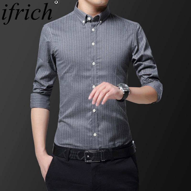 5cab93627d 2019 Striped Men Dress Shirts Factory Sale Top Quality 2019 New Autumn Plus  Size Long Sleeve Black 5xl Regular Fit Non Iron Easy Care From Hongzhang,  ...