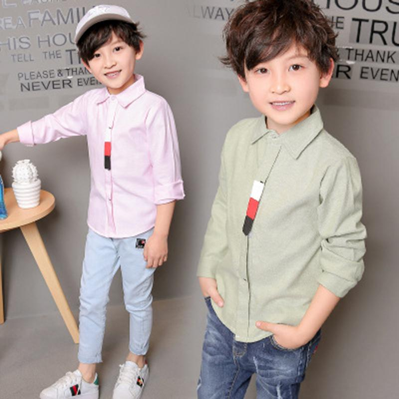 Compre Primavera Verano Camisas De Niños Blusa Blanca Casual Rayas Camisas  De Cuello Completo Moda Niños Ropa Infantil Ropa De Niños Moda A  28.2 Del  ... 8ef382e26da9d