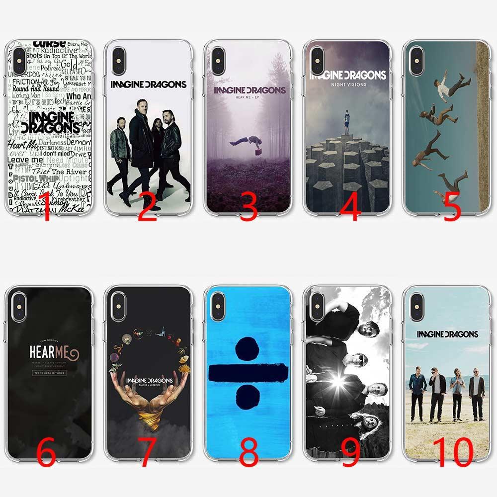 d35c272623e Carcasas Personalizadas Para Moviles Imagine Dragons Night Music Funda De  Teléfono De Silicona Suave TPU Para IPhone 5 5S SE 6 6S 7 8 Plus X XR XS  Cubierta ...