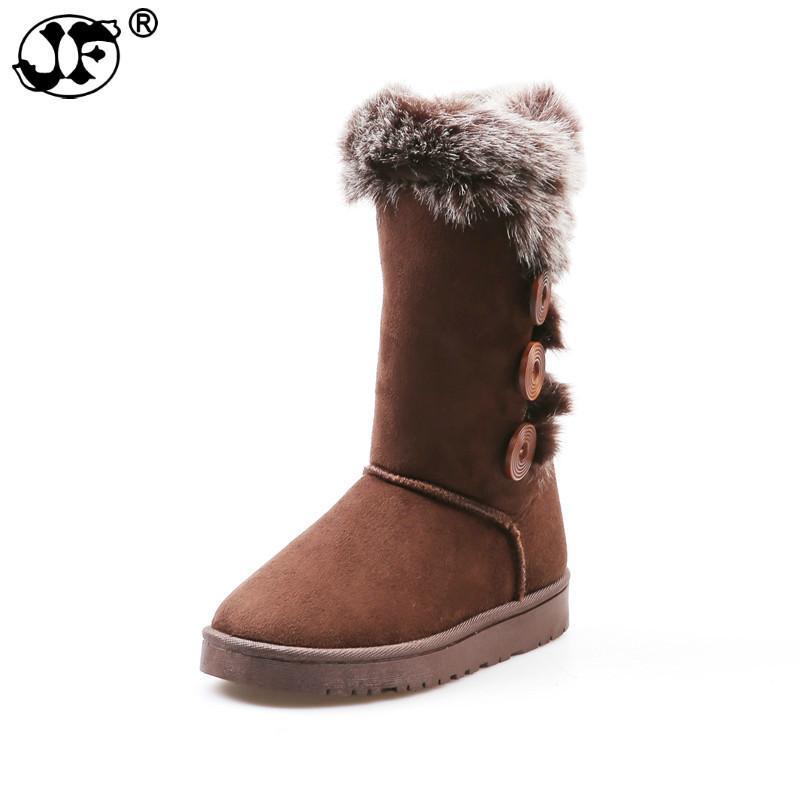 cuir laine bottes neige bottes femme strass boutons fourrure de mouton bottes courtes intérieur en peau de mouton hiver chaussures chaudes femme 632