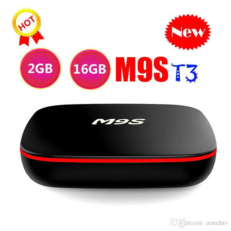 1 PCS 2019 M9S T3 Android smart Tv Box Quad Core 2GB 16GB H3 Chip Support  Wifi 4K 3D Media Player set top Box Better TX3 X96 MINI T95Q
