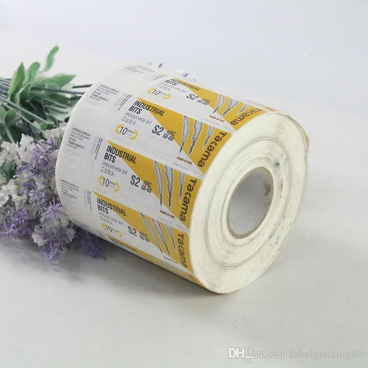 0066eff527b 2019 Custom Paper Roll Package Adhesive Label Glossy Varnishing Color  Printing Logo Sticker Bottle Label From Labelprinting89