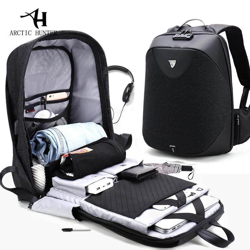 de441c7a8b ARCTIC HUNTER New Anti Theft 15.6 Laptop Men Bag School Password Lock Backpack  Waterproof Casual Business Travel Male Backpacks Rucksack Backpack Boys ...