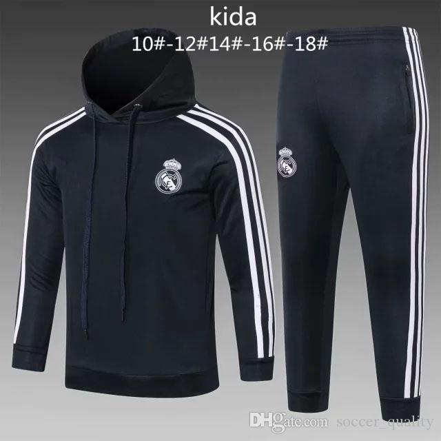 Compre AAA + Calidad 2018 2019 Real Madrid Niños Chaqueta De Fútbol Chandal  Chándal 18 RONALDO ASENSIO De Pie ISCO Juventud Chaqueta Pantalones Traje  De ... 52e19ff8d2157