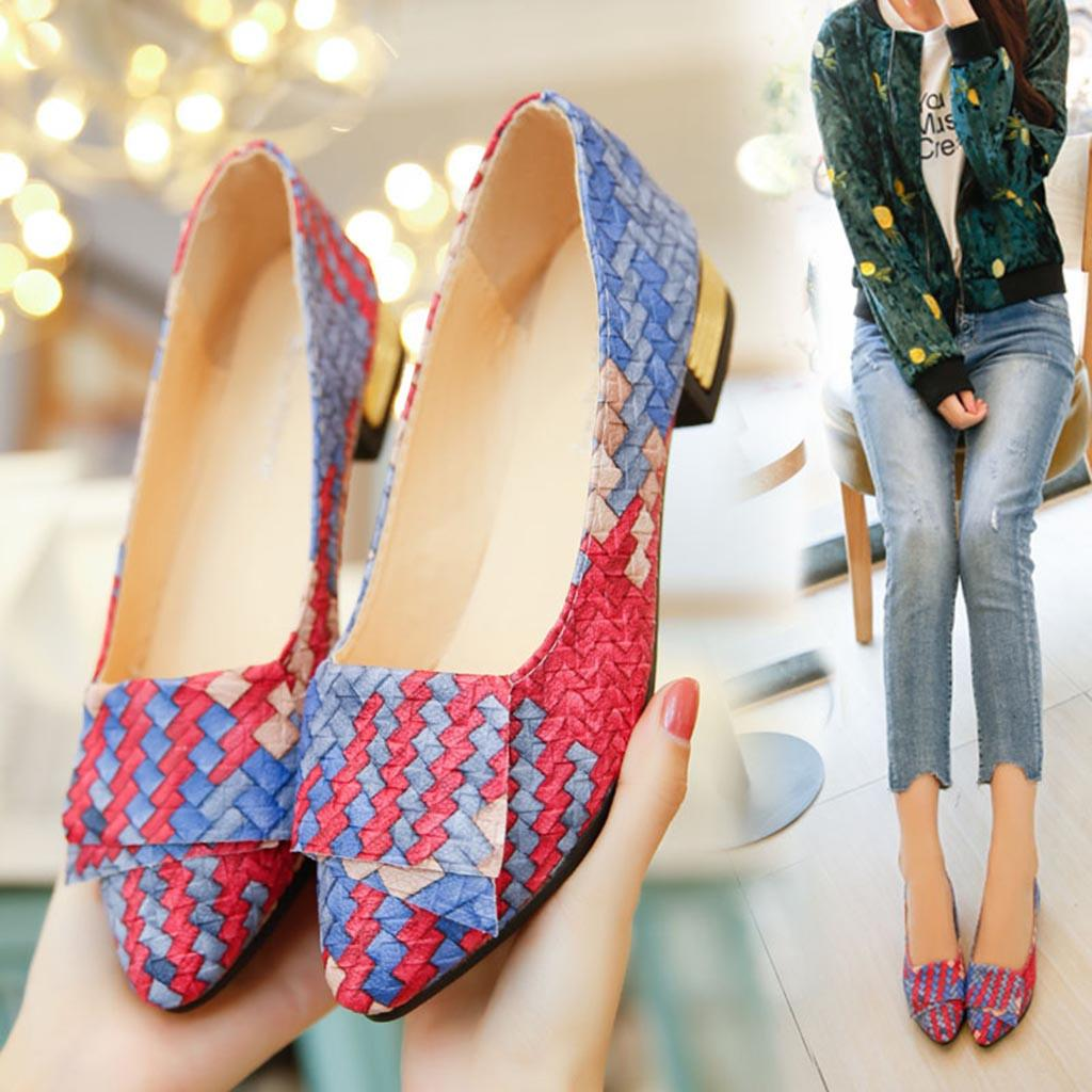 35697ffb3f49 Designer Dress Shoes 2019 Women S Pumps New Fashion Spring Summer Girl  Mixed Colors Casual Female Pretty Lady Party Work Walking Pump Hot Loafers  Mens Boots ...