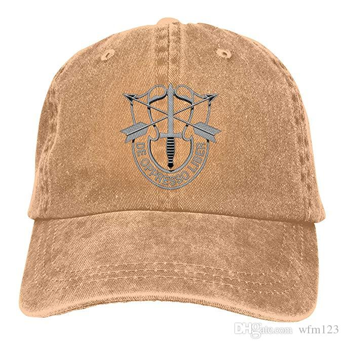 2019 New Cheap Baseball Caps US Special Forces Insignia Mens Cotton Adjustable Washed Twill Baseball Cap Hat