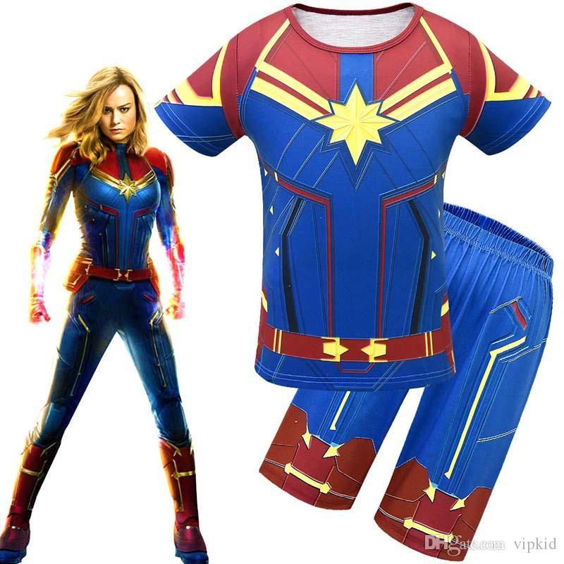 New Avengers Alliance 4 Captain Marvel Carol Danvers Ms Marvel Costumes Tracksuit Casual Captain Marvel cosplay 3D toy Printed C21