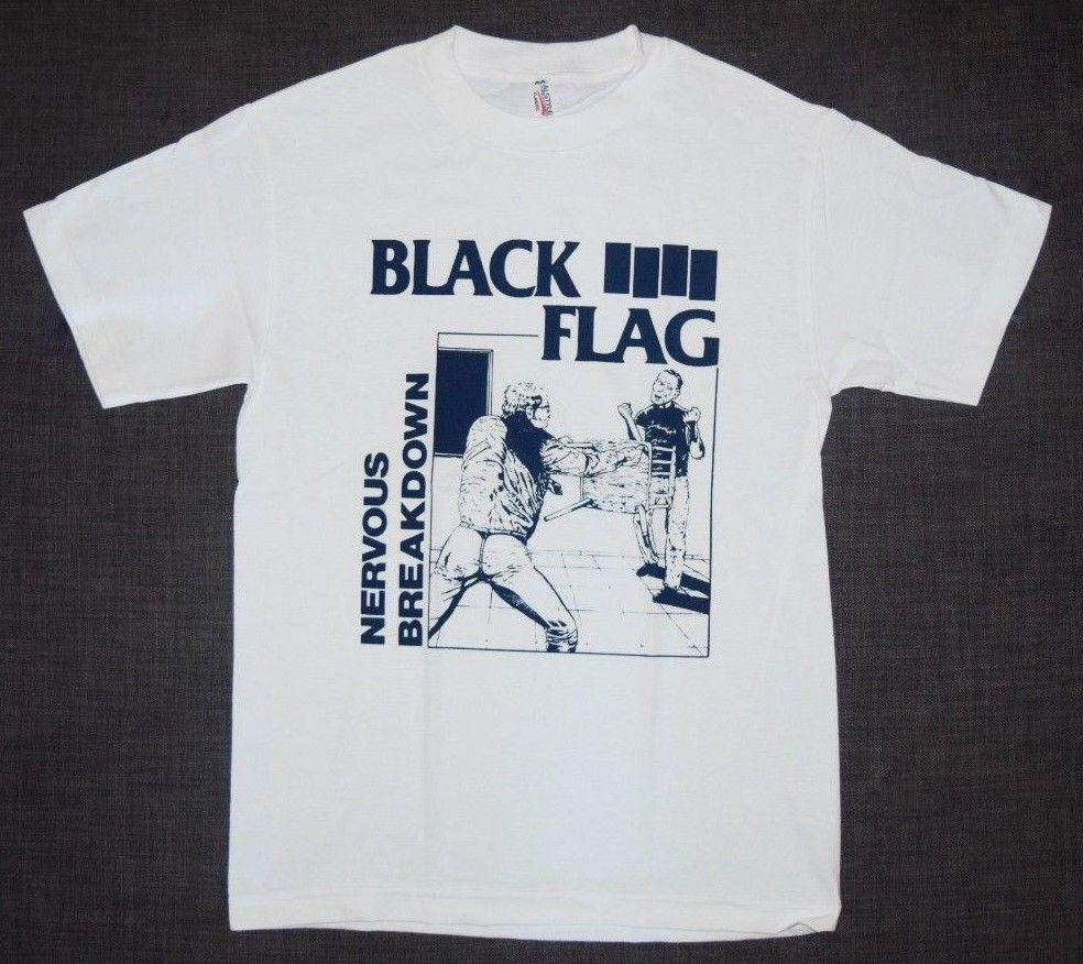 e236eb335f5f4 Black Flag Nervous Breakdown New Men T-Shirt Punk Rock Funny free shipping  Unisex Tshirt top