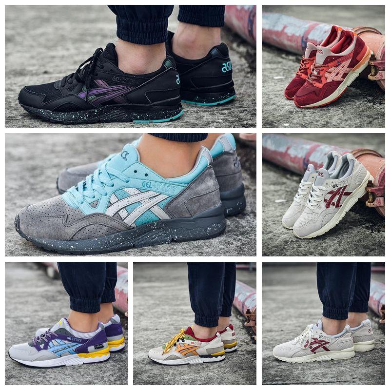 Asics 2019 Gel Lyte V Hommes Femmes Chaussures De Course H5U1N 9001 H60RK 1189 Multicolore En Ligne Bottes Designer Sneakers Chaussures De Sport