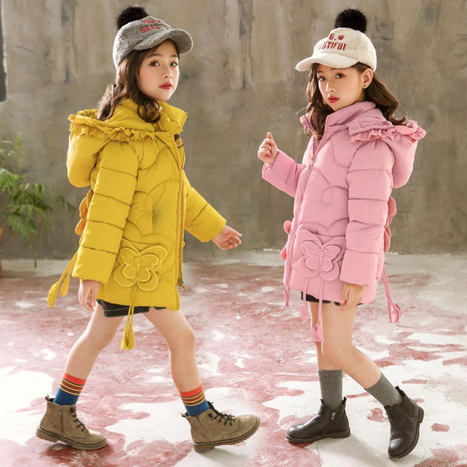f6b62a1a5 Hot New Girl Coat Outwear Children Winter Baby Girl Coat Warm Hooded ...