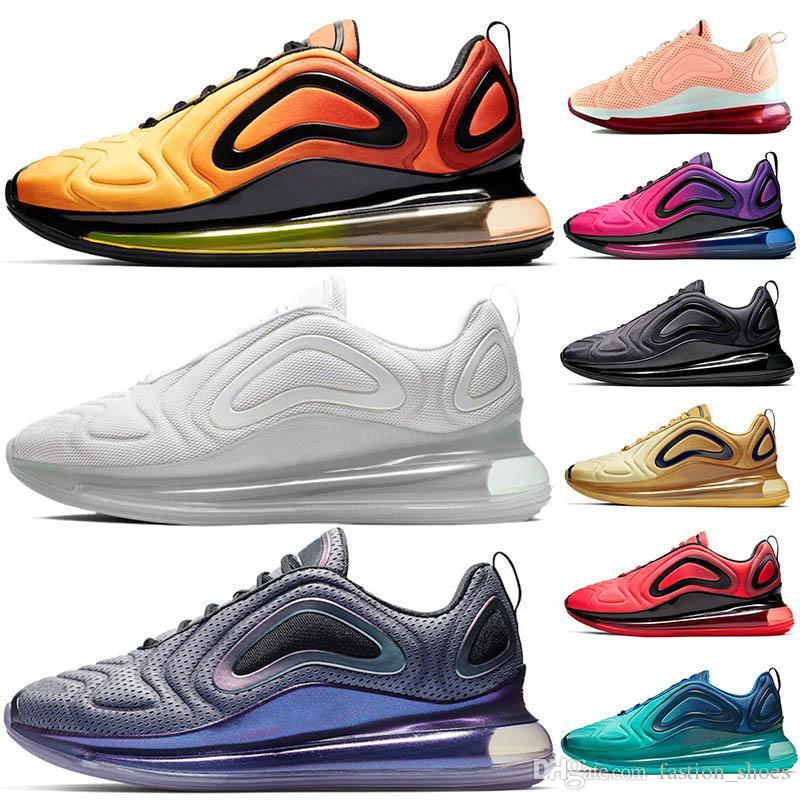 sale retailer 87a31 68bfe Acheter 2019 Nouveau Pas Cher 720 Hommes Femmes Chaussures De Course Triple  Noir Rouge Bleu Designer Trainer Sports Chaussures De Plein Air Baskets  Haute ...