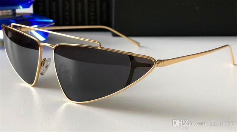 1b104c56ad New fashion designer sunglasses 63us metal small box cat eye frame  avant-garde fashion catwalk style top quality protection eyewear