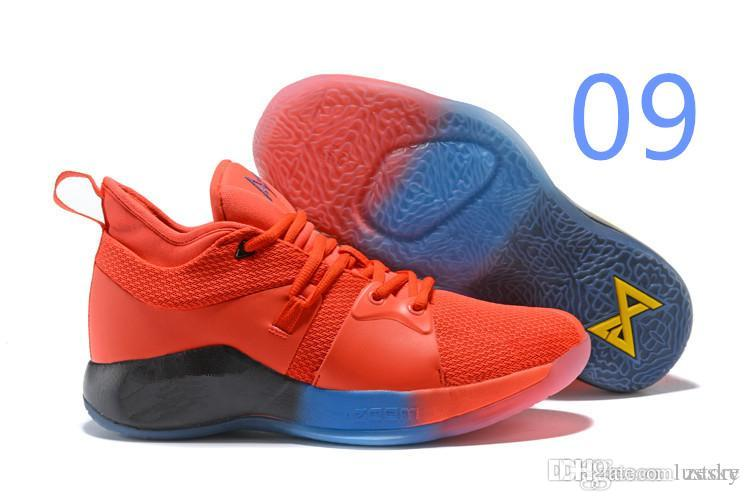 752e7ef8153 Cheap 2019 HOT Sale Paul George 2 PG II Basketball Shoes Top PG2 2S Starry Blue  Orange All White Black Sports Sneakers Size 40-46 Zesky