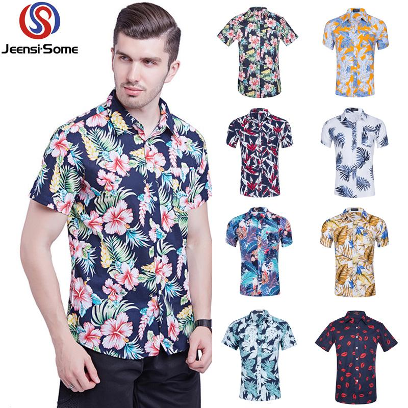 7293ff4a2 2019 Mens Hawaiian Shirt Print Short Sleeve Casual Shirt Male Vintage Mens  Clothing Boutique Men Clothes Style Retro S 2XL From Cfendou, $26.79 |  DHgate.Com