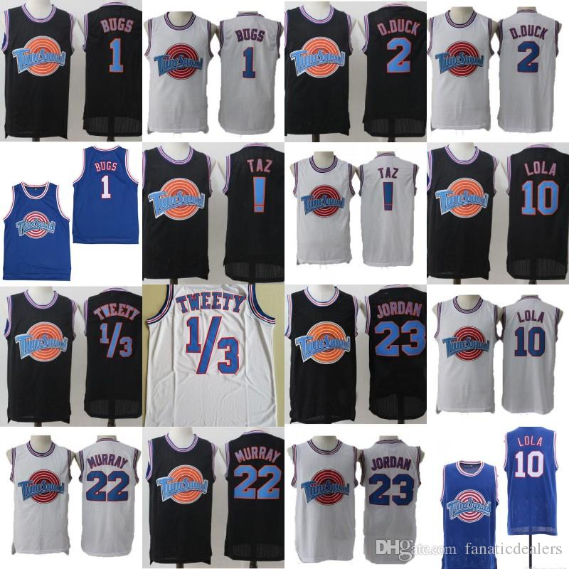 66d44ee1445 2019 22 Bill Murray Tune Squad Space Jam Jersey 1 Bugs Bunny 23 Michael !  Taz Weety Daffy Duck Lola Bunny Stitched Movie Basketball Jerseys From ...