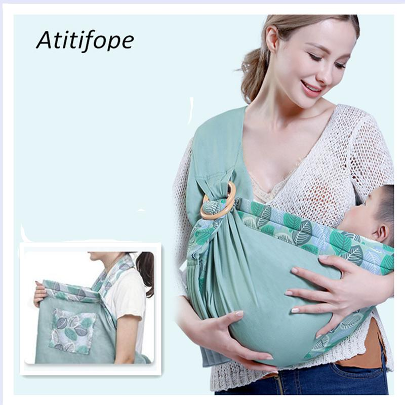 Baby Wrap Carrier Ring Sling Multiple Positions Slings And Wraps For Easy Wearing And Carring Of Baby Newborn Infant Toddler