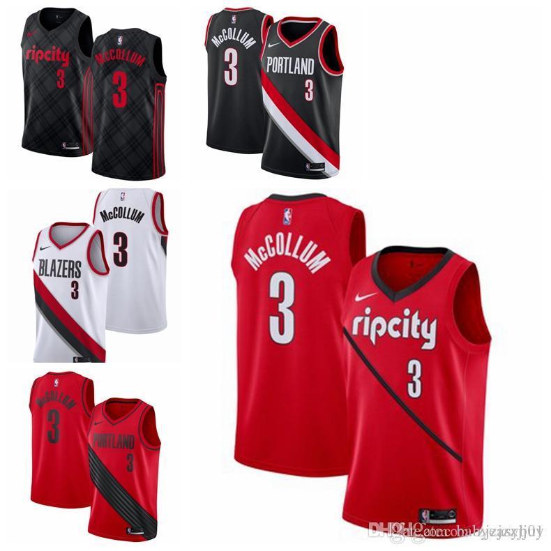 4de757b7cd8a 2019 New Portland Trail  0 Damian   0 Lillard Blazer Jersey Damian 0  Lillard Jersey CJ 3 McCollum Jersey Shirts With Designs R Shirt From ...