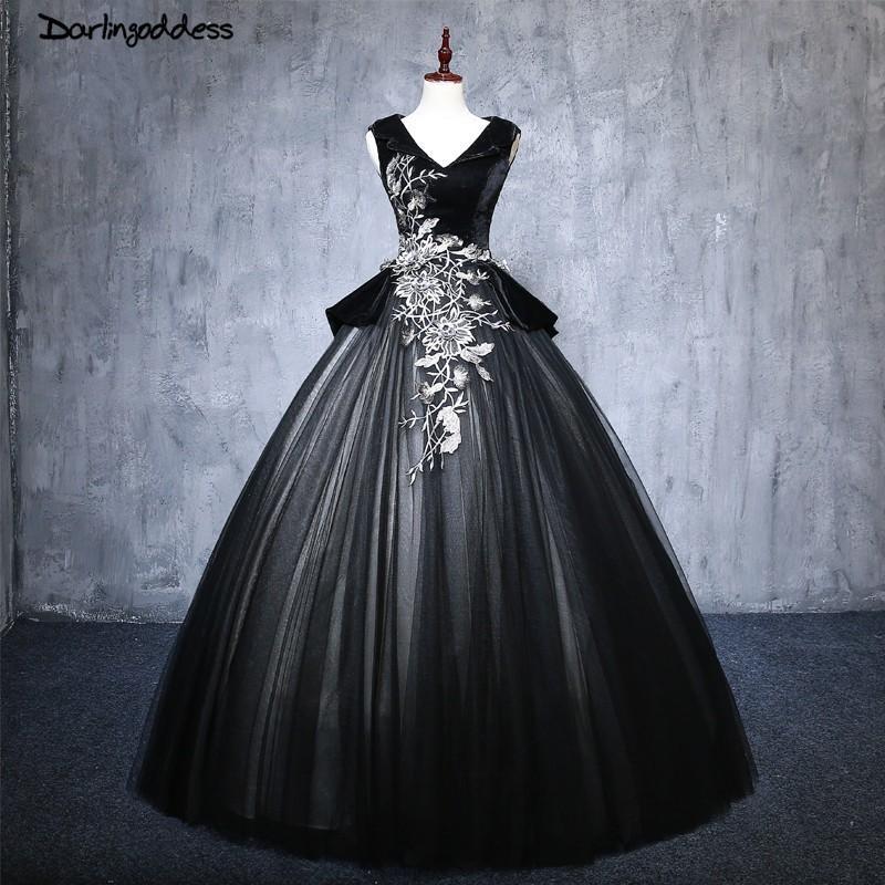 504b8f2c49b09 2018 Cheap Black Quinceanera Dresses Ball Gown Puffy Sweet 16 Dress Lace  Formal Party Dress Plus Size vestido de festa 15