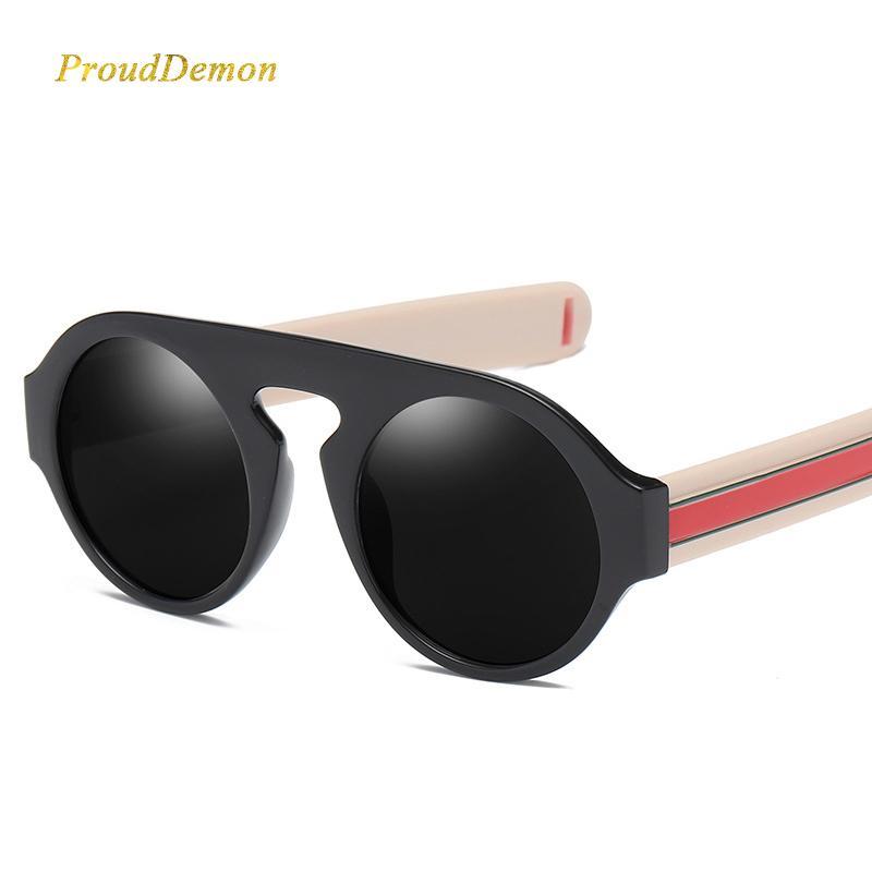 d181ab25fe3595 Acheter 2018 Nouvelle Marque Designer De Luxe Lunettes De Soleil Rondes  Hommes Et Femmes Rétro Vintage Cadre En Plastique Clear Lens Eyewear New  Shades De ...