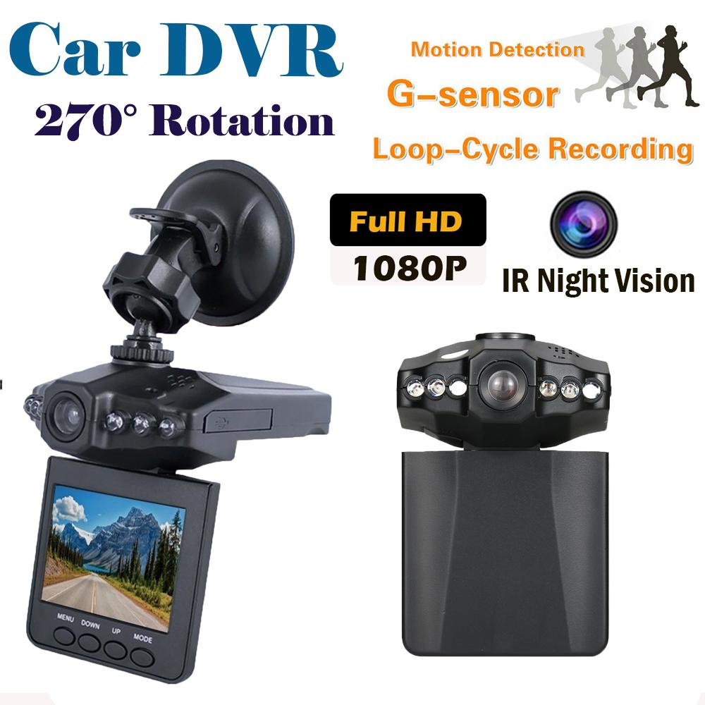 Car dvr 2.5 Inches Rotatable LCD Screen Portable 6 LEDs Light DVR Video 120 Degree Angle Night Vision Recorder Camera Road Safety Guard