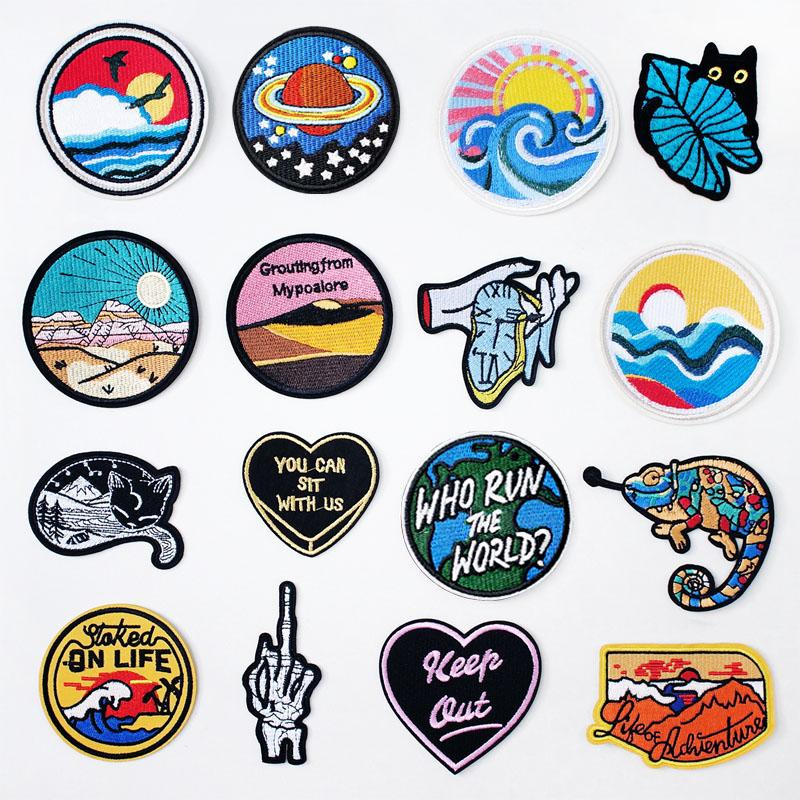 Heart Hand Cat DIY Cloth Badges Mend Decorate Patch Jeans Bag Hat Clothes  Apparel Sewing Decoration Applique Patches