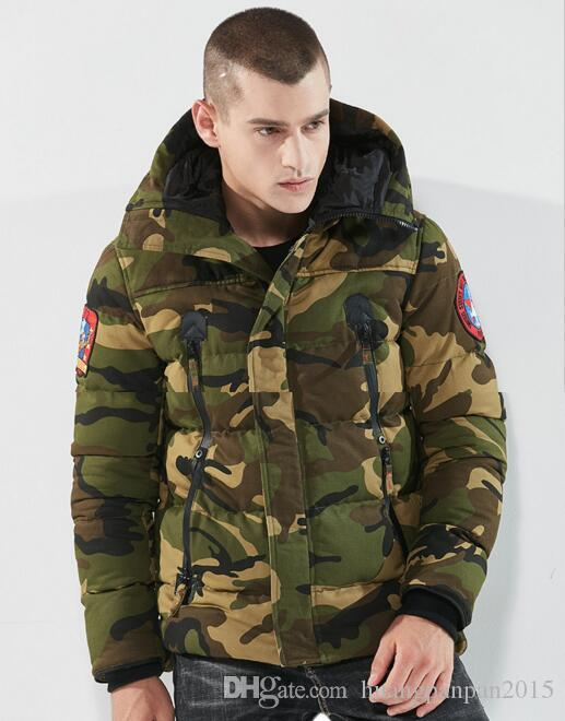 High quality men's cotton coat winter thick camouflage cotton clothing European and American cotton men's jacket