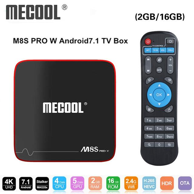 Mecool PRO W Smart TV Box Android 7 1 Amlogic S905W 1GB 8GB 2GB 16G Support  MAG 250 Stalker IP TV Box 2 4G WiFi PK x96 mini M8S BA