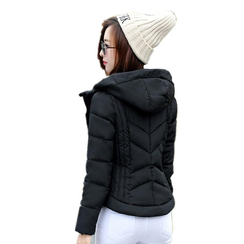 a38ec375c5 2019 Winter Jacket Women 2019 New Lady Hooded Parkas Short Female Jacket  Thick Cotton Coat Slim Warm Women'S Winter Coats Re0033 From  Godblessus163888, ...