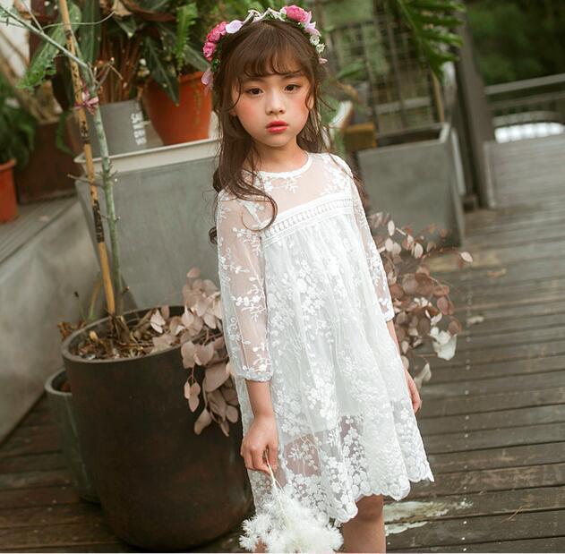 0b03dbd3e4 Compre 2019 Vestido De Encaje De Niña De Verano Vestido De Boutique De Las  Niñas Dulces Vestidos De Fiesta Para Niños Disfraces De Alta Calidad Para  Niños ...