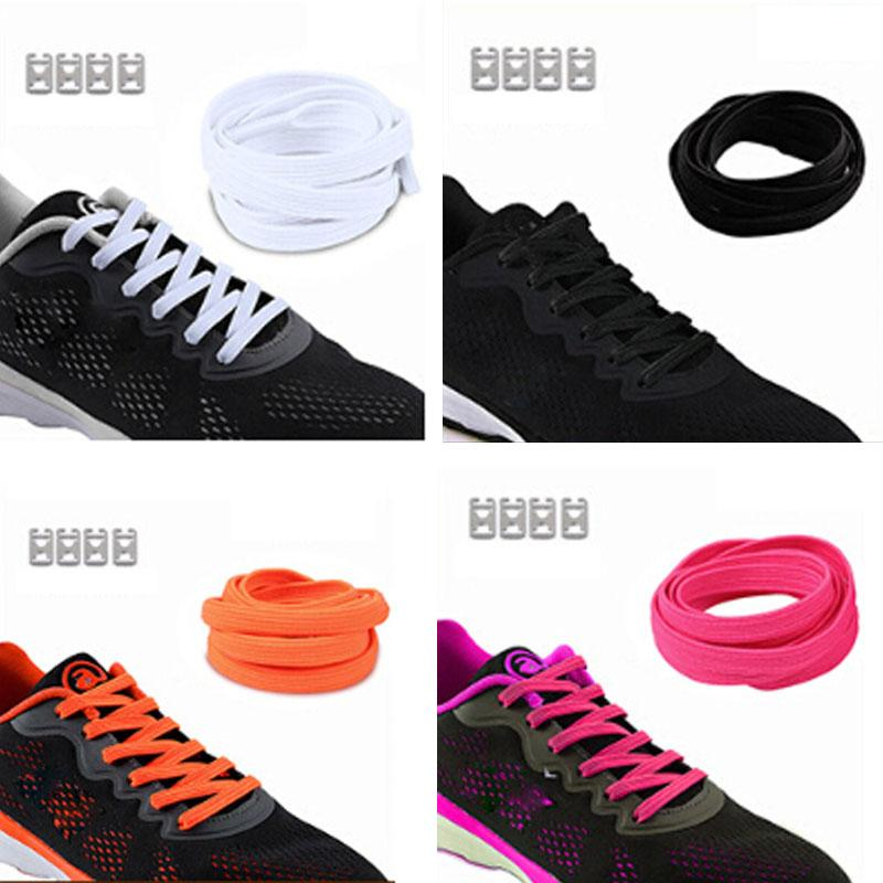 6bea177e7 2019 No Tie Shoelaces For Kids Adults Casual Shoes Boy Girl Fashion  Shoelaces With Metal Circle Decor Lazy Sneaker Shoe Laces From Xiamenshoes,  ...