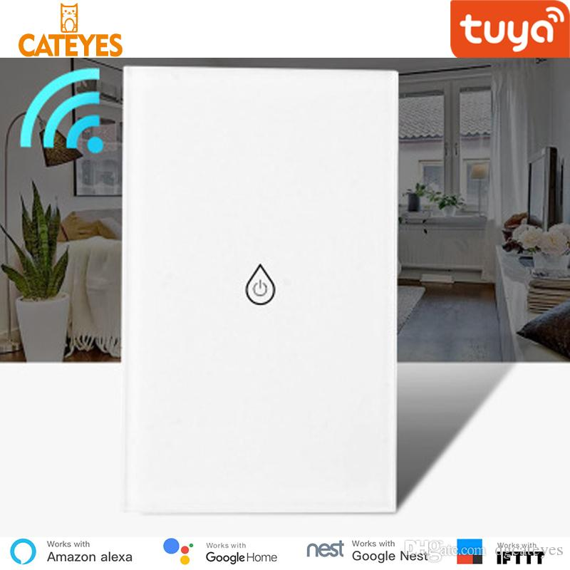 Cateyes Tuya APP WiFi Smart Boiler Glass Panel Water Heater US Switch Smart  Life Remote Control Alexa Echo Google Home Voice Control