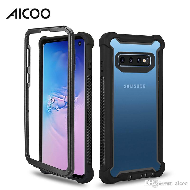 AICOO Space Transparent Case Hybrid Armor Case Customize Shockproof Cover for iPhone XS MAX XR 8 Plus Samsung S10 J7 2018 LG Stylo 4 OPP