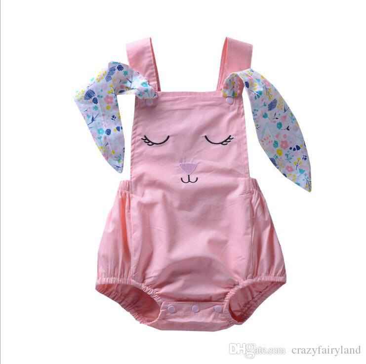 1586ec55f24e8 2019 Easter Outfits Baby Girls Rabbit Big Ears Romper Sleeveless Backless  Bodysuit Infant Kids Jumpsuit Clothes Summer Toddler Boys Girls Clothes  From ...