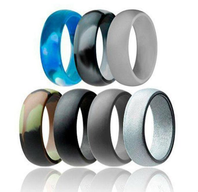 Men S Silicone Wedding Band.Silicone Wedding Ring Flexible Silicone O Ring Wedding Engagement Comfortable Fit Lightweigh Ring For Mens Multicolor Men Rings
