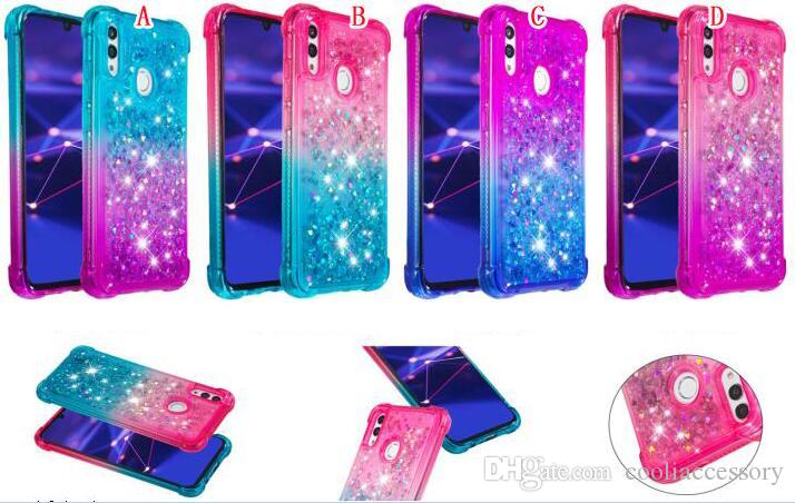 Funda de TPU suave a prueba de golpes de Liquid Bling para Iphone 11 PRO MAX 6.5 5.8 6.1INCH Heart Love Glitter Quicksand Skin Cover Cell Phone Luxury 100pcs