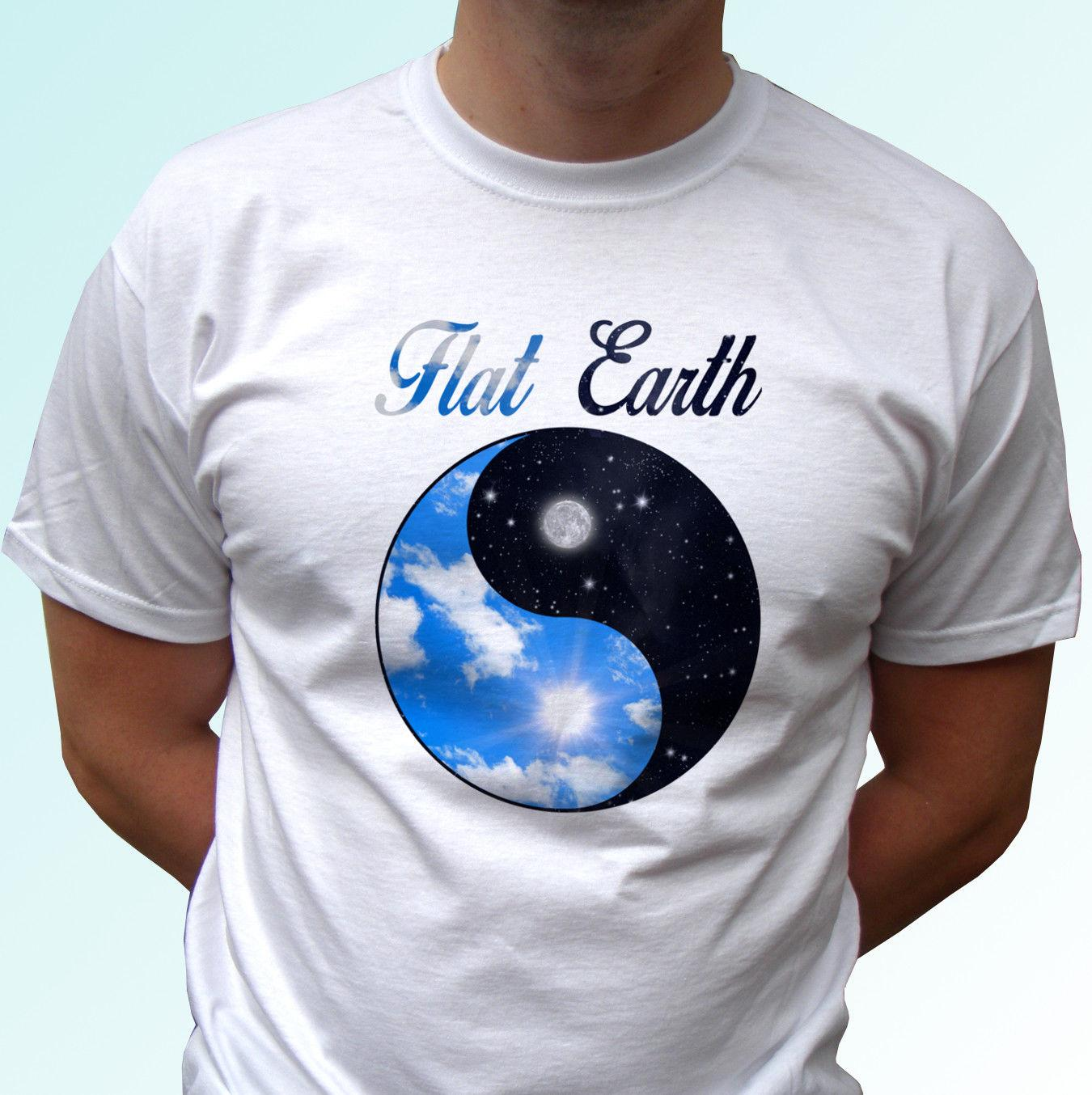 Flat Earth T Shirt Tao Yin Yang Quote Top Tee Design Mens Womens