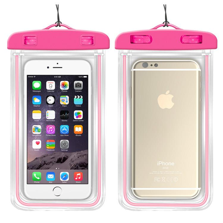 on sale e75e7 e1673 SZAICHGSI 10pcs/lot Clear Watertight Belt Waterproof Case Cover Against  water Protector Pouch Phone Bag For iPhone Samsung Xiaomi Huawei