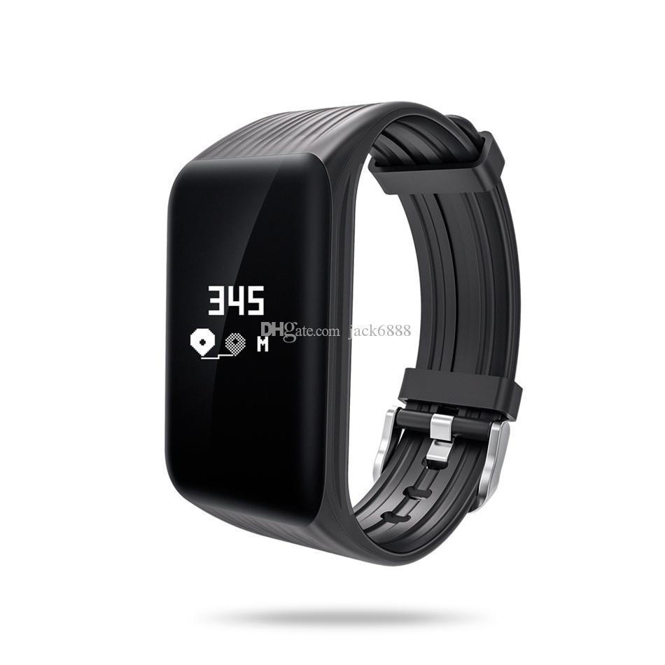 af2c0ee57991 Accesorios Celulares K1 Fitness Tracker Reloj Pulseras IP67 Actividad A  Prueba De Agua Monitor De Ritmo Cardíaco Continuo Paso Contador De Sueño  Pulsera ...