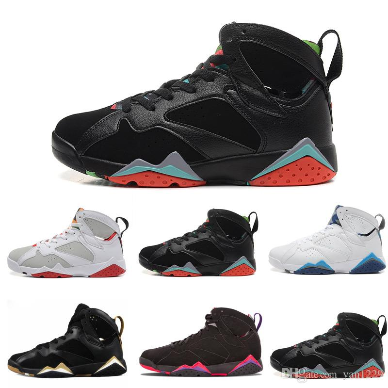 2718ef436204b9 2019 Air Cheap 7 Basketball Shoes Men 7s VII Purple UNC Bordeaux Olympic  Panton Pure Money Nothing Raptor Zapatos Trainer Sport Shoe Sneaker From  Yan1229