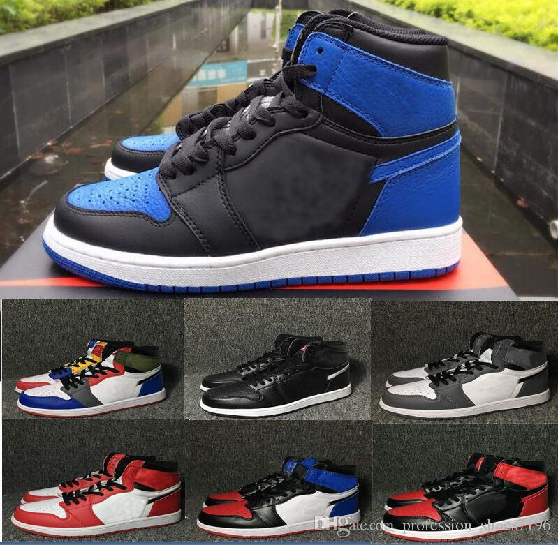 6ef385c0978ae3 2019 Retro Banned Bred Toe Chicago Shadow 1 OG 1s High Game Royal Blue Mens  Basketball Shoes Sports Valentine Designer Sneakers Trainer Size 12 From ...