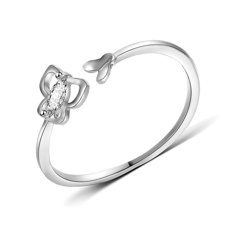ecbc6c051 2019 Transmit Love 925 Silver Colour Ring For Woman Fashion Butterfly Ring  Flexible Opening Exquisite Women'S Jewelry Birthday Gifts From Saucy, ...
