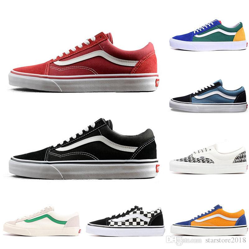 2603ddfba6 2019 2019 New YACHT CLUB Vans Old Skool FEAR OF GOD Black White MARSHMALLOW  Green PRIMAR Men Women Sneakers Fashion Skate Casual Shoes 36 44 From ...
