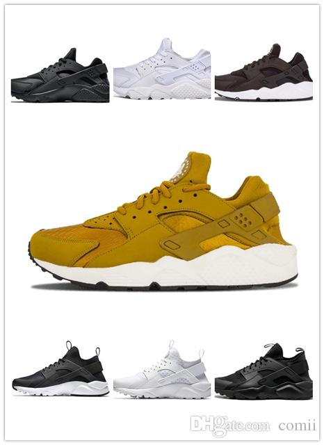 5ad88a04e492 2019 On Sale New Huarache 1.0 4.0 Mens Running Shoes Black White Gold Red  Fashion Huaraches Mens Trainers Women Sports Sneaker Boys Running Shoes  Barefoot ...