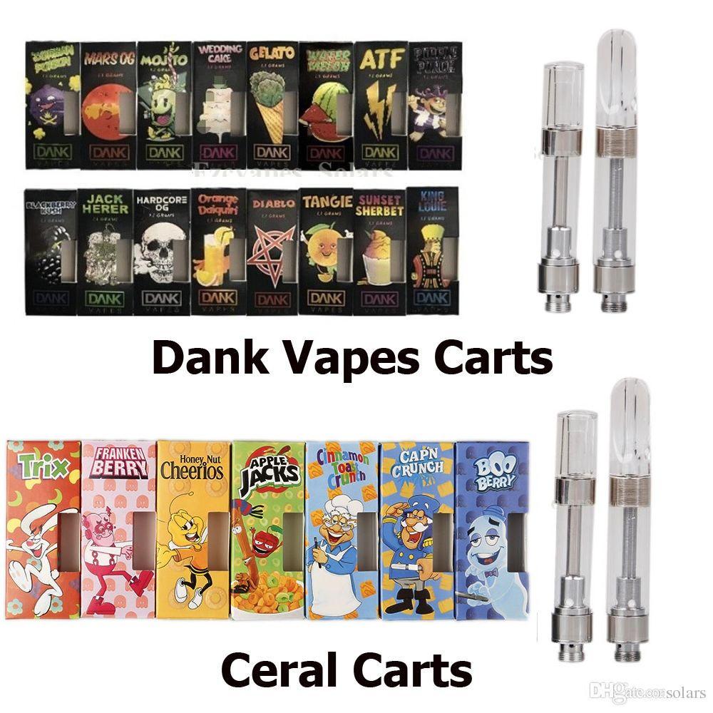 New Flavors Dank Vapes Cartridge Pack Cereal Carts 1 0ml 1 1 Gram