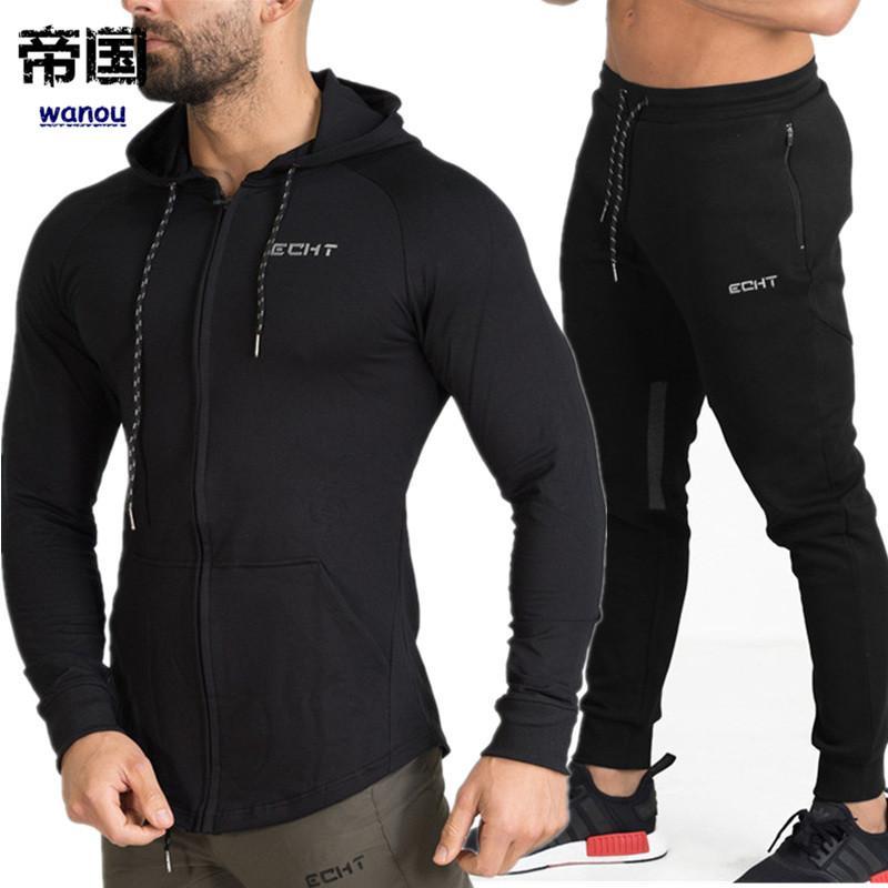 Herren Mäntel Pullover Hosen Anzug Trainingsanzug Set Fitnes Hoodies Jogginghose