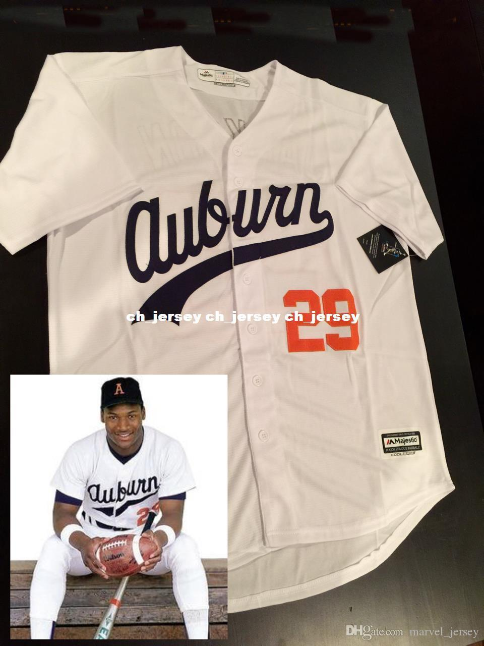 huge discount 3a53c 0cb82 Cheap Custom Majestic Cool Base Bo Jackson jerseys Stitched Retro Mens  jerseys Customize any name number XS-5XL
